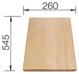 Photos 1: Blanco 1234701 Idento Wooden cutting board 26 x 54.5