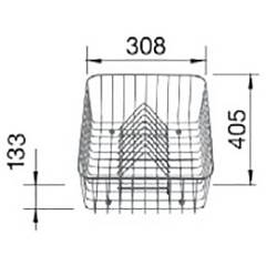 Blanco 1504829 Stainless steel basket with dish grill 30.8 x 40.5 Lemis