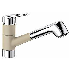 Blanco 1523256 Kitchen mixer with hand shower - champagne - chrome Notis-s