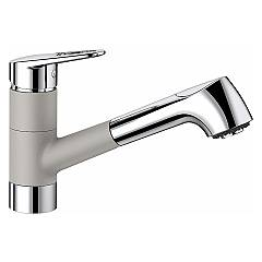 Blanco 1523261 Kitchen mixer with hand shower - pearl gray - chrome Notis-s