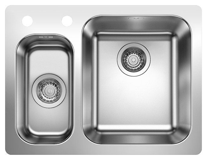 Photos 1: Blanco 1523367 Supra 340/180-if/a Stainless steel filotop sink 63 x 47