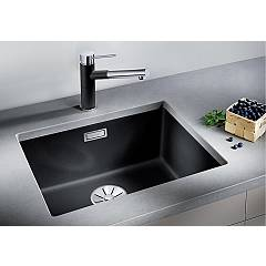Photos 3: Blanco 1523440 Subline 500-u Undermount sink 53 x 46 silgranit - nutmeg