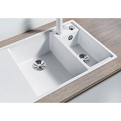 Photos 3: Blanco 1523476 Axia 3 6 S Pearl gray recessed sink 100 x 51 - left drainer