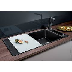 Photos 2: Blanco 1523513 Axia 3 Xl 6 S Pearl gray recessed sink 100 x 51 - reversible drainer