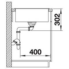 Photos 4: Blanco 1523513 Axia 3 Xl 6 S Pearl gray recessed sink 100 x 51 - reversible drainer