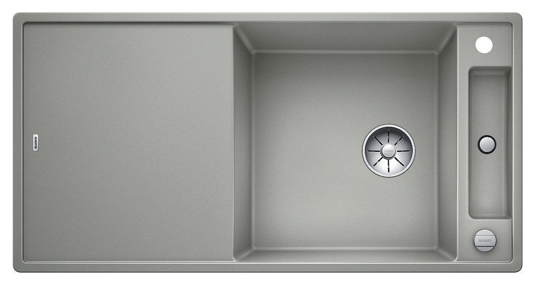 Photos 1: Blanco 1523513 Axia 3 Xl 6 S Pearl gray recessed sink 100 x 51 - reversible drainer