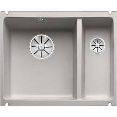 Blanco Subline 350/150-u Undermount sink cm. 57 x 46 porcelain ceramic - alu gray Subline