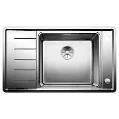 Blanco Andano Xl 6 S-if Compact Semi-flush / flush-mount sink cm. 86 - inox - left drip