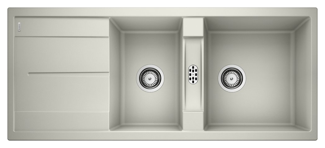 Photos 1: Blanco METRA 8 S Metra Built-in sink cm. 116 x 50 silgranit - pearl gray - reversible drip