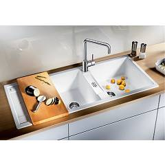 Photos 3: Blanco METRA 8 S Metra Built-in sink cm. 116 x 50 silgranit - pearl gray - reversible drip
