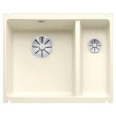 Blanco Subline 350/150-u Undermount sink cm. 57 x 46 porcelain ceramic - brilliant magnolia Subline