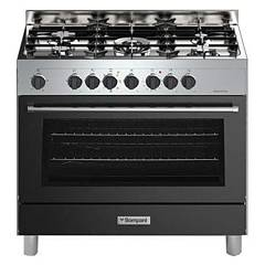 sale Bompani Bo687da/n - Tech The Kitchen From The Docking Cm. 90 X 60 - Anthracite 5 Burners - 1 Electric Oven