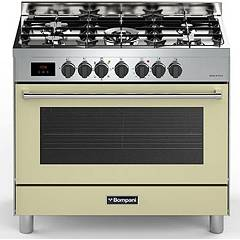 sale Bompani Bo684dc/n - Tech The Kitchen From The Docking Cm. 90 X 60 - Cream 5 Burners - 1 Electric Oven