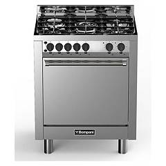 sale Bompani Bo773ga/n - Tech The Kitchen From The Docking Cm. 70 X 60 - Stainless Steel 5 Fires - 1 Gas Oven