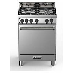 sale Bompani Bo613gb/n - Tech The Kitchen From The Docking Cm. 60 X 60 - Stainless Steel 4 Burners - 1 Gas Oven