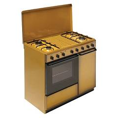 Bompani Bi951ea/l Kitchen from accosto cm. 90 x 60 - brown 4 fires - 1 gas oven - cylinder holder Ecoline