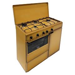 Bompani BI961YA/L The kitchen from the docking cm. 85 x 45 - brown 5 fires - 1 kiln - cylinder holder