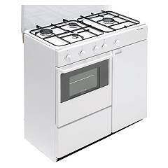 Bompani BI960YA/L - ECOLINE Kitchen cm. 85 - white 4 burners - 1 gas oven