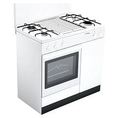 Bompani BI950EA/L - ECOLINE Kitchen cm. 90 - white 4 burners - 1 gas oven