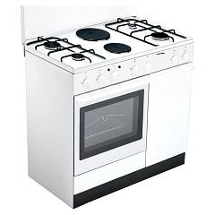 Bompani BI940EB/L - ECOLINE Kitchen cm. 90 - white 6 burners - 1 electric oven