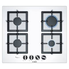 Bosch Ppp6a2b20o Gas hob 60 cm - tempered glass - white Serie 6