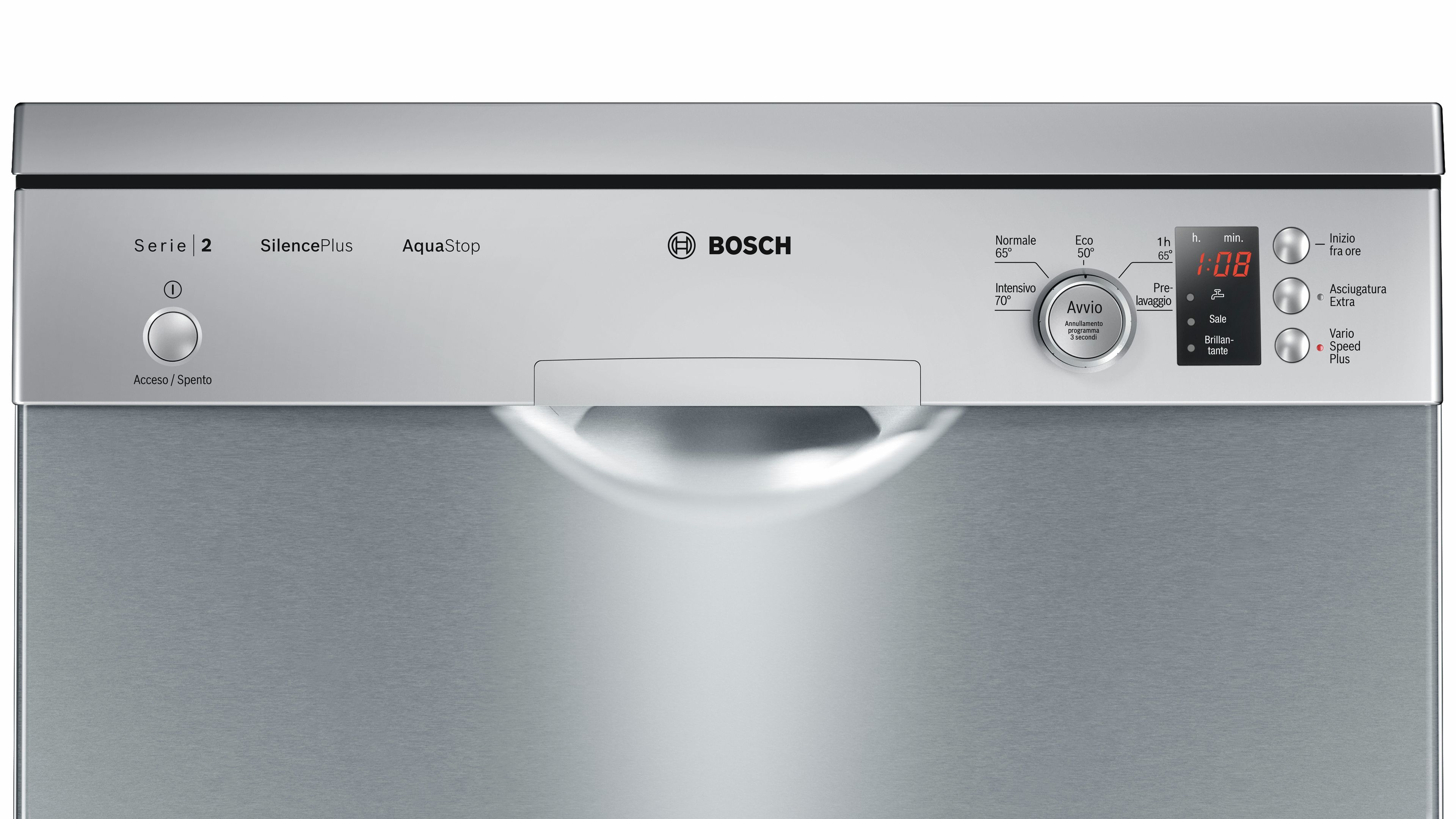 Photos 2: Bosch Dishwasher cm. 60 - 12 place settings - stainless steel SMS25AI02J