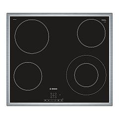 Bosch Pkf645b17e 58 cm electric hob - black glass ceramic Serie 4