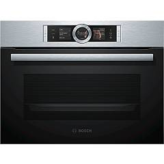 Bosch Csg656bs2 60 cm compact built-in steam oven - stainless steel Serie 8