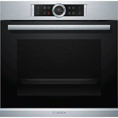 Bosch Hbg6750s1 Built-in oven cm. 60 with automatic programs and pyrolytic - stainless steel function Serie 8
