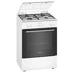Bosch Hxa090d20l Striking kitchen cm. 60 - 1 electric oven + 4 gas burners - white Serie 2