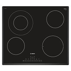 Bosch Pkf651fp1e 60 cm electric hob - black glass ceramic Serie 6