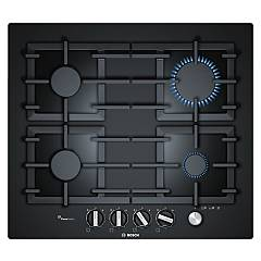 Bosch Ppp6a6m90 Gas hob 60 cm - black tempered glass Serie 6