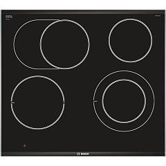 Bosch Pkn675dp1d 60 cm electric hob - black glass ceramic Serie 8