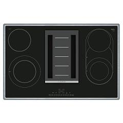 Bosch Pkm845f11e Hob with 80 cm suction hood - stainless steel / black Serie 6