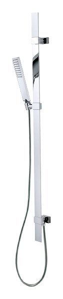 Photos 1: Bossini D48014.030 Flat Shower rod h 110 - chrome with hand shower