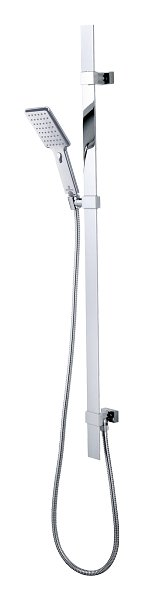 Photos 1: Bossini D48055.030 Flat Shower rod h 110 - chrome with hand shower