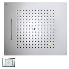 Bossini H38905.030 Tuš glavo cm. 57x47 chromo - chrome jets 2 Dream Multifunction Rgb Led Lights