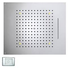 Bossini H38906.030 Tuš glavo cm. 57x47 chromo - chrome jets 2 Dream Multifunction Rgb Led Lights