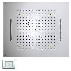 Bossini H38908.030 Tuš glavo cm. 57x47 chromo - chrome 4 jets Dream Multifunction Rgb Led Lights