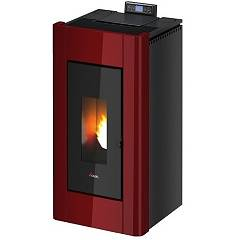 Cadel Prince3 11 kw canalized hot air pellet stove - red metal coating