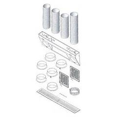 Caminetti Montegrappa 1530200100 Kit de conduits d'air naturel classique