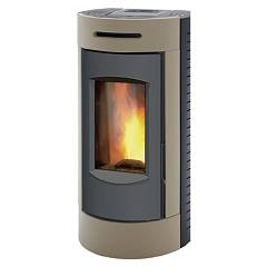 Caminetti Montegrappa Tour Evo Ls9 Ventilated hot air pellet stove with assembly 9 kw system - havana majolica covering Tour Evo Ls