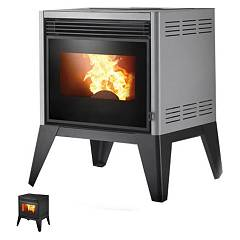 sale Caminetti Montegrappa Lab Ap6 6192306700 + 2060912700 Pellet Stove Hot Air Fan 6 Kw - Black