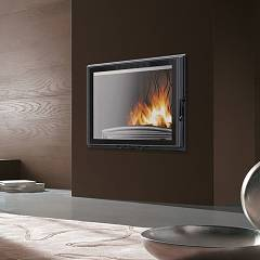 Caminetti Montegrappa Fc 80ga - P608283 Fireplace, hot air natural convection - 14 kw - cast iron swing