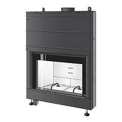 Caminetti Montegrappa Light 02n Wood fireplace hot air convection natural 13 kw door loader