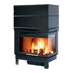 Caminetti Montegrappa Cm P05v Dx Wood fireplace hot air ventilated 11.1 kw - open right door loader