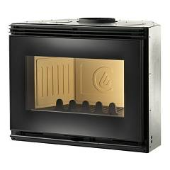 Caminetti Montegrappa Compact 70s Wood floor with hot air convection natural 7.5 kw door with reversible door