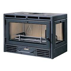 Caminetti Montegrappa Bravo 75 R Wood firewood hot air convection natural 8.5 kw door door - reversible