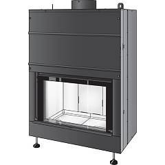 Caminetti Montegrappa Light 80-15 Wood fireplace for water heating 15 kw door leaves