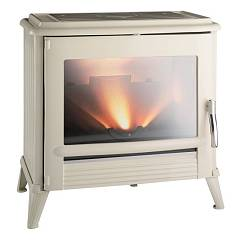 Caminetti Montegrappa Dalu Wood stove hot air natural convection 9 kw - ivory cast iron covering